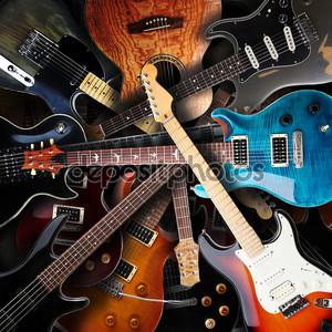 Электрические гитары фон