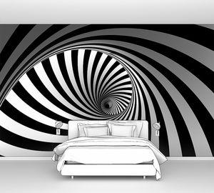 Черно белая завораживающая спираль