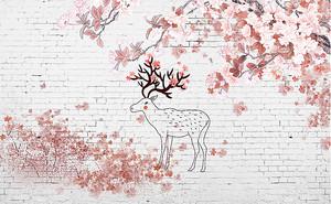 Абрис оленя на стене