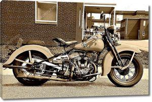 Фото сепия старого мотоцикла