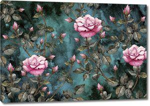 Кустовая роза на темном фоне