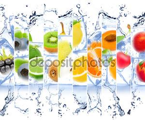Лед и фрукты