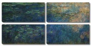 Моне Клод. Пруд с водяными лилиями, отражения облаков