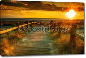 Закат пляж это фото, сделанные hdr технике