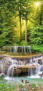 Речные пороги в лесу
