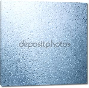 Drops of water.