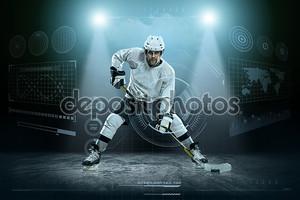 игрок хоккея на льду