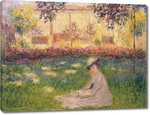 Моне Клод. Женщина, сидящая в саду, 1876