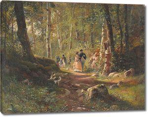 Иван Шишкин. Прогулка по лесу