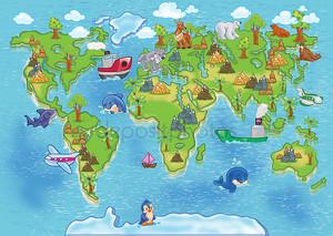 карта мира детей