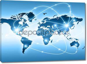 Лучший Интернет концепции глобального бизнеса от концепции серии. Карта мира