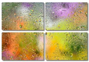 Капли на дождевом окне