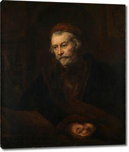 Рембрандт. Портрет пожилого мужчины в образе апостола Павла