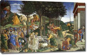 Боттичелли Сандро. Призвание и испытания Моисея