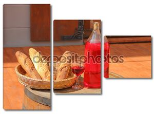 Натюрморт с хлебом и вином
