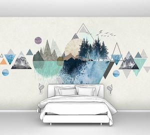Лес на орнаменте из треугольников