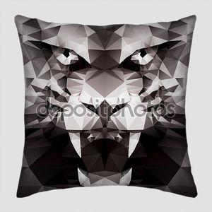 Абстрактный черный тигр