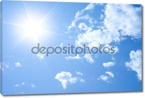 солнечный фон неба