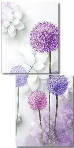 Луговой чеснок с бумажными цветами