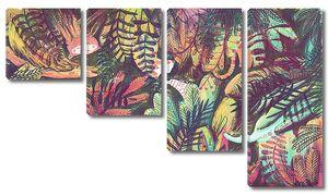 Лес с диковинными зверушками