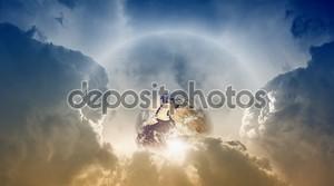 Планета Земля в небо