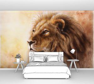 Красивые Аэрография картина львиная голова с majesticaly мирное выражение
