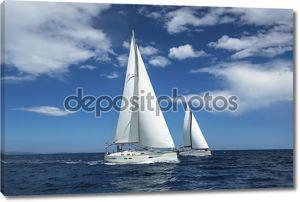 Sailing at Aegean Sea in Greece