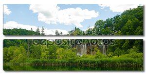 Панорамный вид на водопад Хорватии