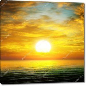 восход солнца по морю