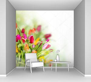 Прекрасный букет тюльпанов