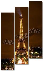 Эйфелева башня ночью (передовая статья используют только)