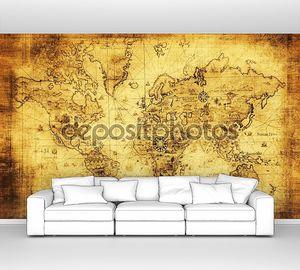 древняя карта мира