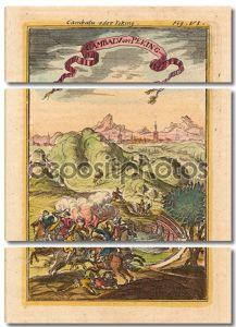 Иллюстрация с конями