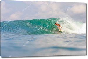 серфинг волны