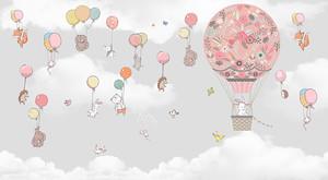 Звери летят на шариках