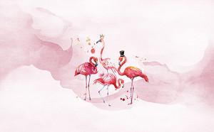 Фламинго в цилиндрах