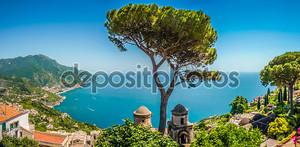 Побережье Амальфи виллы Руфоло сады в Равелло, кампания, Италия