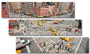 Нью-Йорк - 21 марта: город streetlife точки пересечения