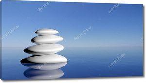 Zen камни в голубой воде