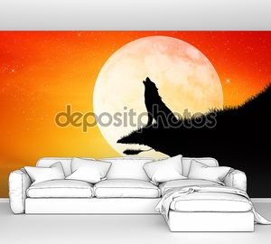 Wolf in the moolight