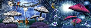 Сказочная грибная поляна