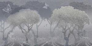 Фреска деревья в узорах