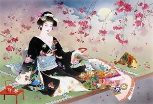 Японка на отдыхе