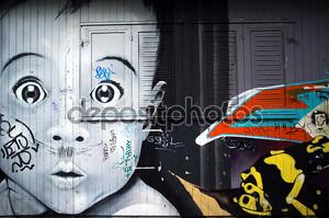 Искусство граффити на заброшенных хат