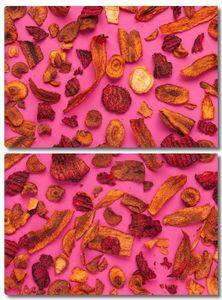 Узор из разрезанных овощей