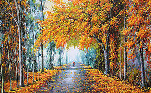 Прогулка по осенней аллее