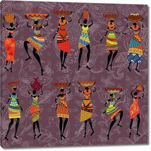 бесшовный фон африканских женщин