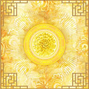 Орнамент с золотым цветком