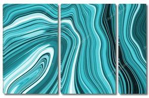 Мраморные чернила синий мраморный узор