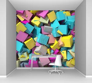 Абстрактный фон геометрических разноцветных
